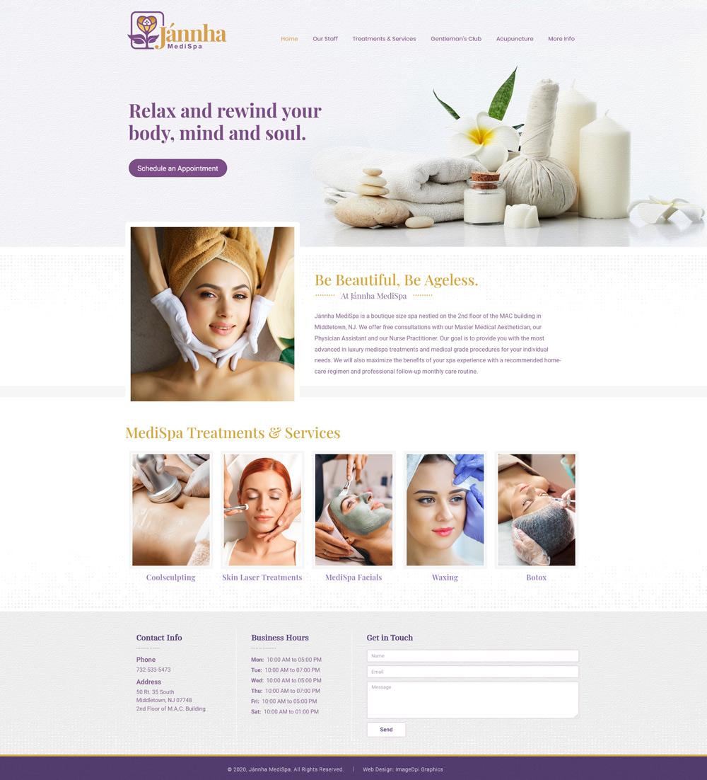 Spa Website - Web Design